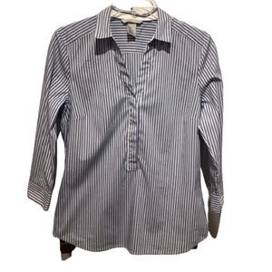 H&M 3/4 SLEEVE PULLOVER STRIPED SHIRT SIZE 8